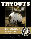 Boys Soccer Tryouts December 3rd and 10th