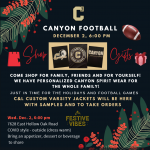 Football Holiday Boutique this Wednesday, December 2 – updated
