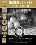 Softball Tryouts Wednesday, December 9 2:50-5 PM