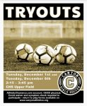 Girls Soccer Tryouts Today, December 1st!
