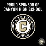 Week of Giving Back – Thank You Cheer Sponsors