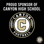Week of Giving Back – Thank You to Canyon Football Sponsors