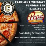 Boys Basketball Takeout Tuesday at Pepz Pizza Today!