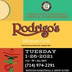 Boys Basketball Takeout Tuesday Jan. 26 at Rodrigo's