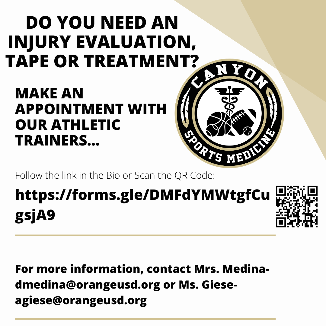 Athletic training appointments now available