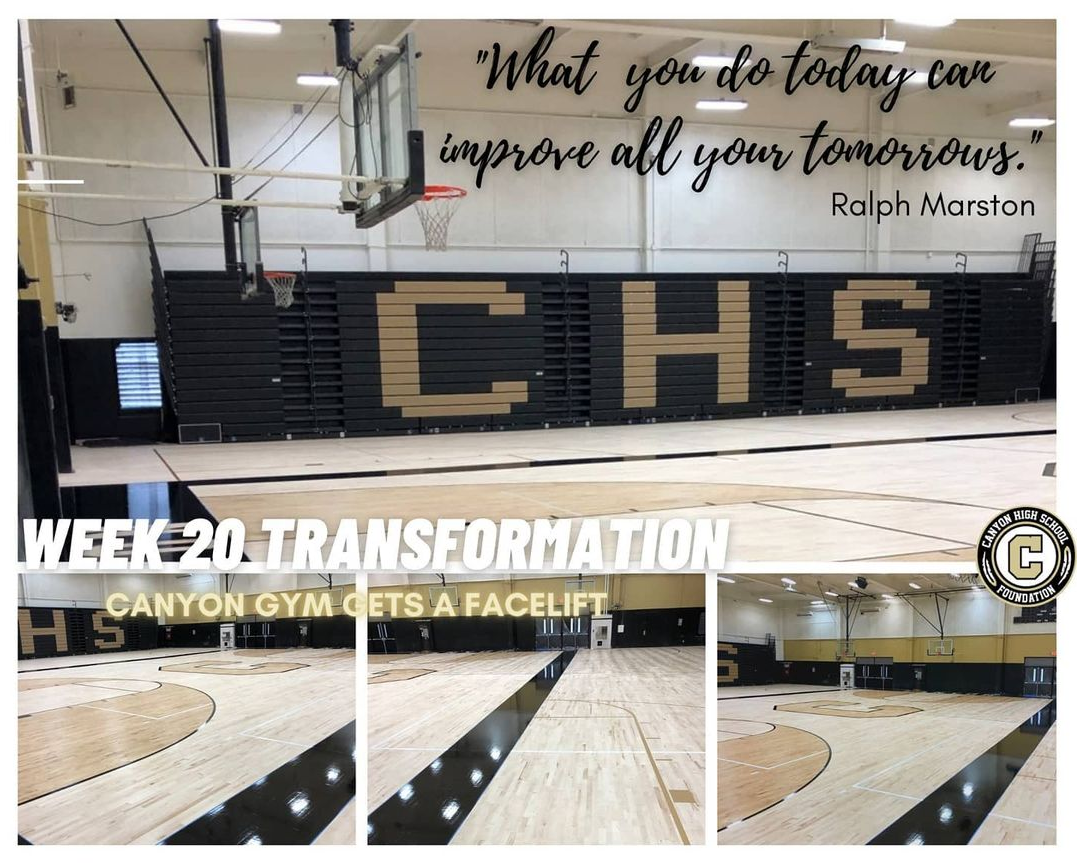 Canyon HS Foundation update on gym renovation – Week 20