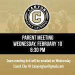 Girls Lacrosse Parent Meeting Wednesday, February 10