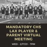 Boys Lacrosse Spring Parent Meeting 2-17 at 7PM