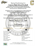 Football Spring Fundraiser – Clothing Drive