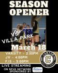 Girls Volleyball Opens Season against Villa Park 3/18