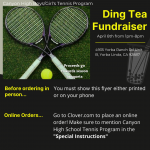 Canyon Tennis fundraiser at Ding Tea on April 8th
