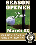 Boys and Girls Varsity Golf Season Opener Today 3/23