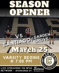 Girls Basketball Season Opener vs Santiago live-streaming on NHFS Network