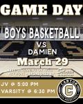Boys Varsity & JV Basketball vs. Damien Live-Streaming Today