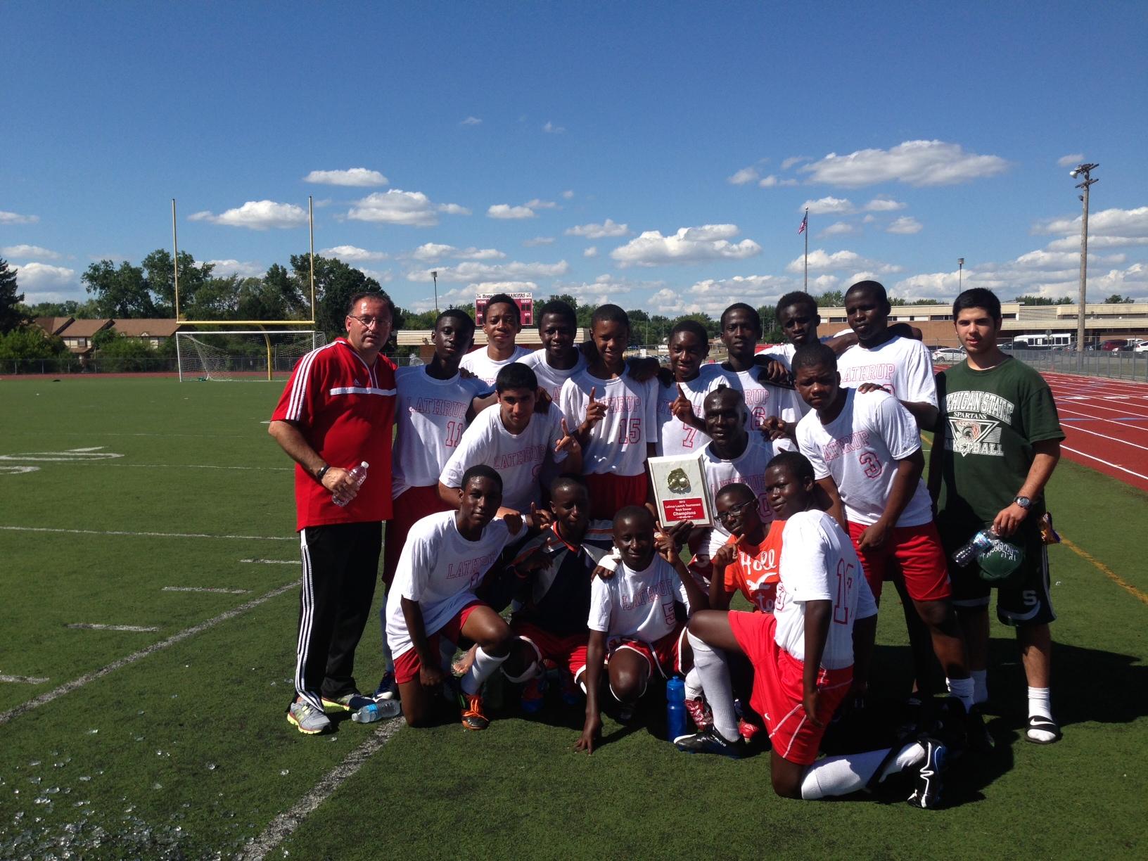 Boys Soccer Tourney Champs!!