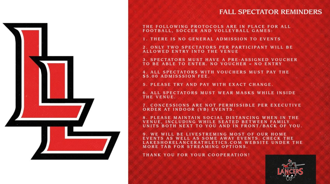 Fall Spectator Reminders