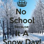 No School January 8 Monday