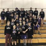 Middle School Wrestlers Champions of the King Of The Mountain