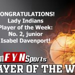 Team FYN Sports Named Isabel Davenport Player Of The Week