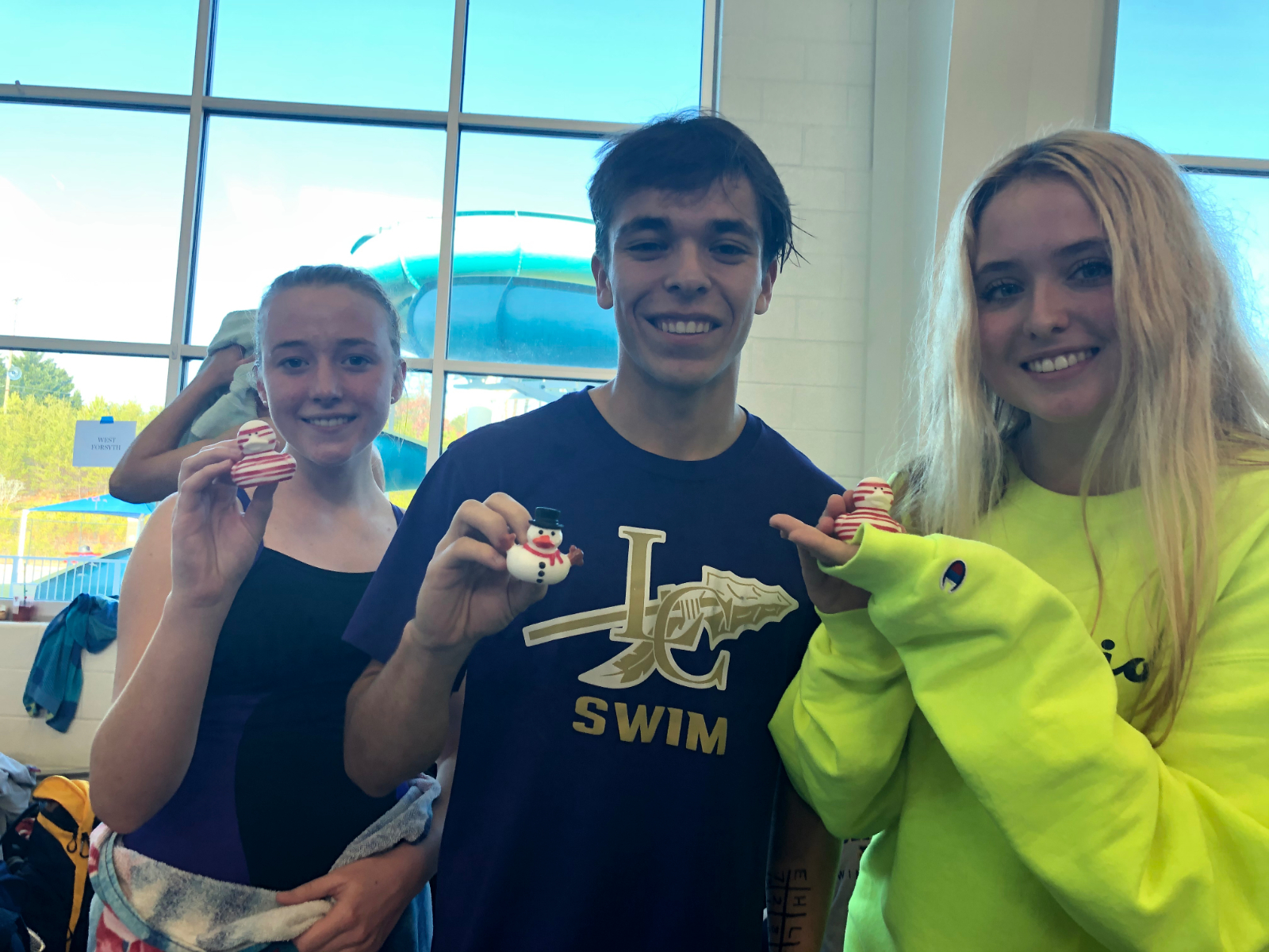 Lumpkin County Swim Team At The Forsyth Central Holiday Classic