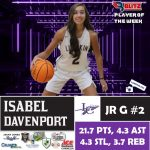 BlitzSports Named Isabel Davenport A Blitz Pick Co-Player Of The Week