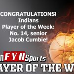 Jacob Cumbie Is The TeamFYNSports Player Of The Week For The Indians!