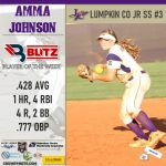 Blitz Sports Named Amma Johnson Softball Player Of The Week