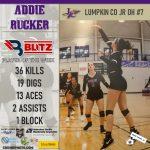 Blitz Sports Volleyball Player Of The Week Addie Rucker