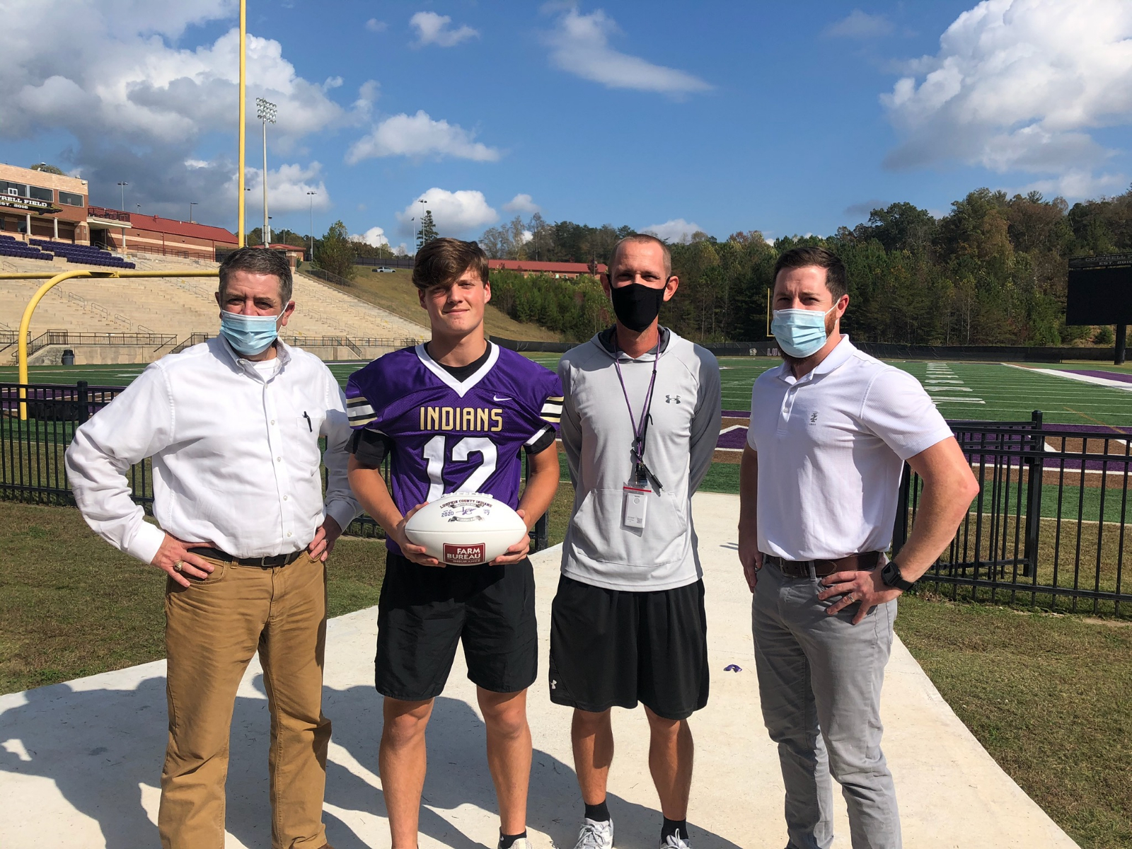 Lumpkin County Farm Bureau's Player of the Game Caleb Norrell