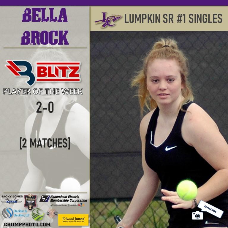 Lumpkin Counties Bella Brock Named Co-Player Of The Week