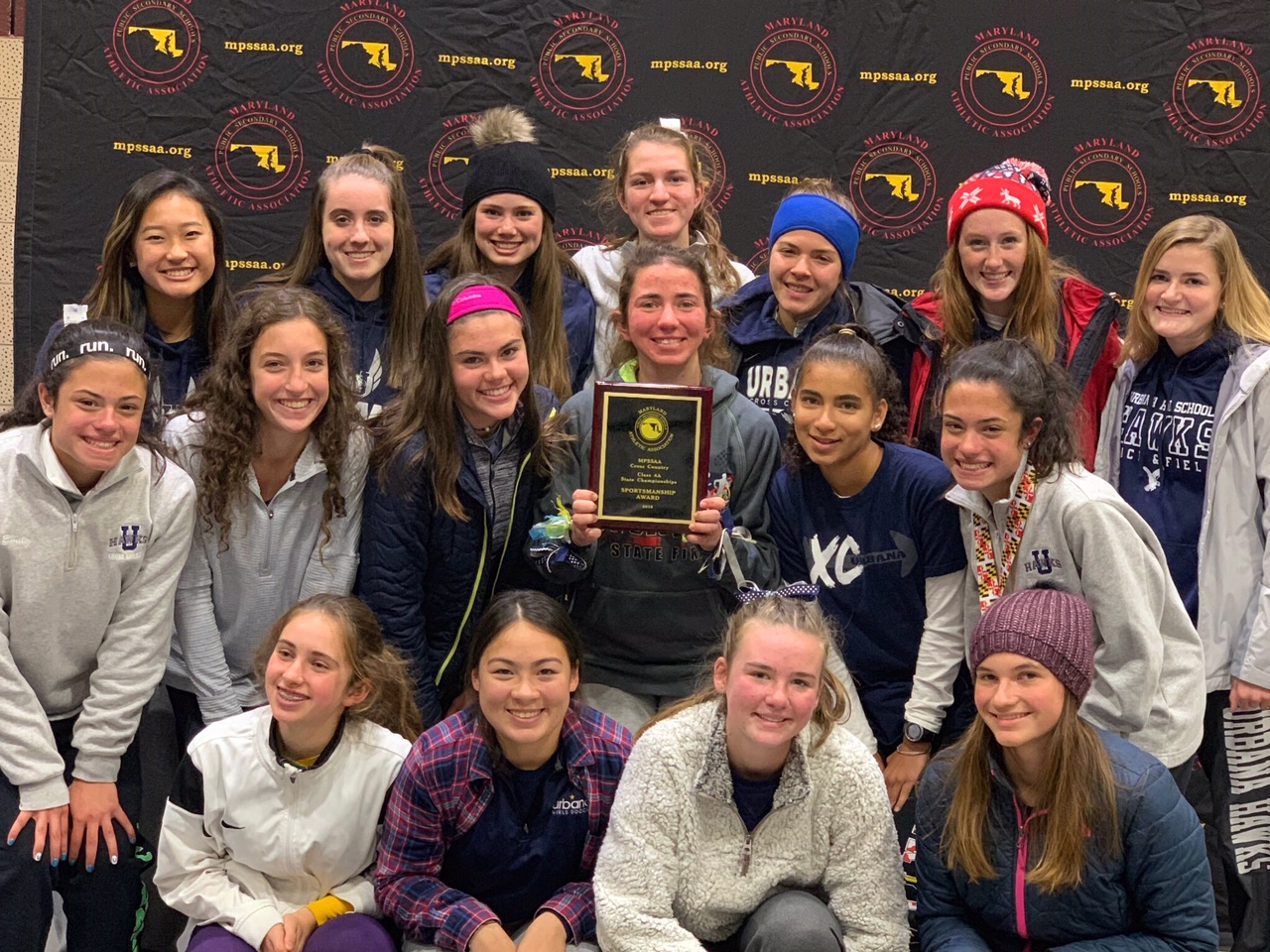 Girls Cross Country Honored with MPSSAA Sportsmanship Award