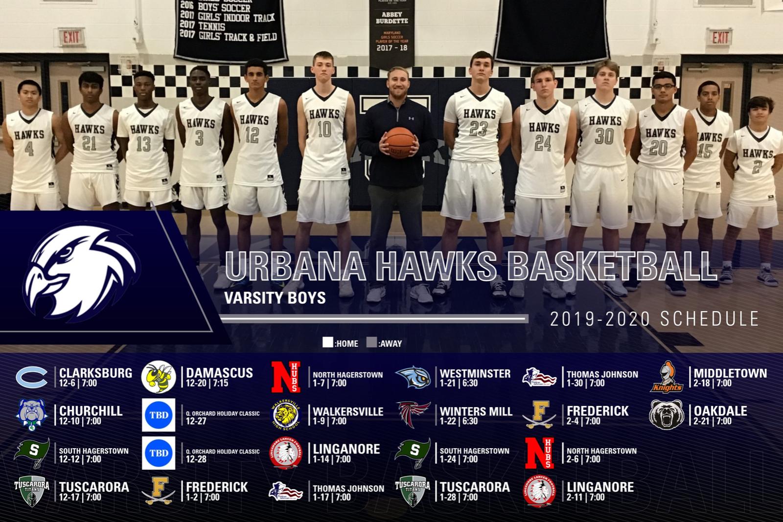 2019-20 Hawks Basketball schedule announcement