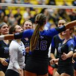 Volleyball Wins first two rounds at the State Tournament