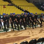 Drill competes at a UVU competition