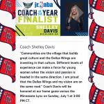 Coach Davis Nominated as Dallas Wings Jr NBA Coach of the Year Finalist