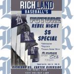 Richland Baseball Future Rebel Night