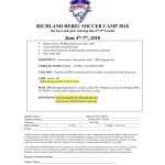 Rebel and Lady Rebel Soccer Camp Signups