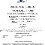 Youth Football Camp Signups