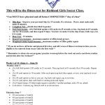 Lady Rebel Soccer Summer Workout and Nutrition Plan