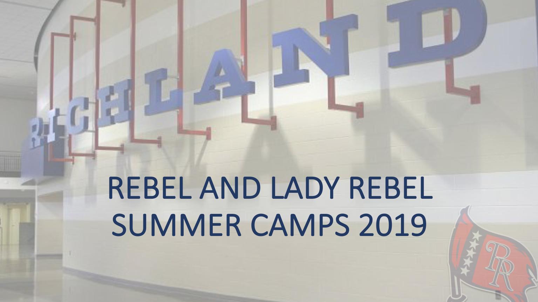Richland Rebel Summer Camps 2019