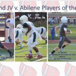 Richland JV v. Abilene Players of the Week