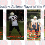 9th Grade Football v. Abilene Players of the Week