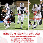Richland v. Abilene Players of the Week