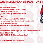 Richland Rebel Play by Play 10/8-10/14