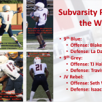 Subvarsity Players of the Week v. LD Bell
