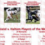 Richland Football Players of the Week