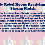 Lady Rebel Basketball set to take on LD Bell and San Angelo Central