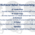 Richland Homecoming Game Times