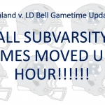 Richland vs. LD Bell Weather Update