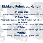 Richland v. Haltom Game Times